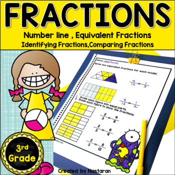 3rd Grade Fractions Distance Learning Worksheets by ...
