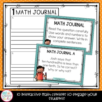 Fractions Fourth Grade Math Centers