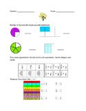 Fractions (Fracciones) Homework, exit slip