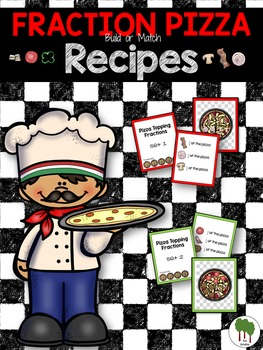 Fractions - Fraction Pizza - Build a Pizza - Fraction Task Cards