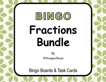 Fractions - BINGO and Task Cards Bundle