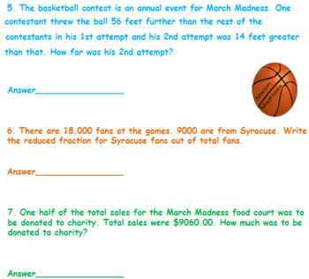 March Madness Fractions