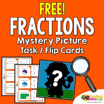 Free Fractions Coloring Activity, Fraction Mystery Pictures | TpT