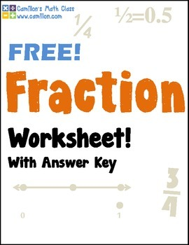 Free Fractions Worksheets with Answer Keys