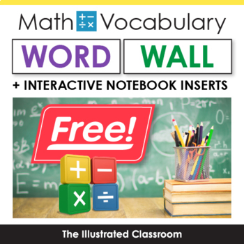 4 Math Vocabulary Freebies