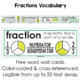 Fractions Freebie - Fractions Word Wall