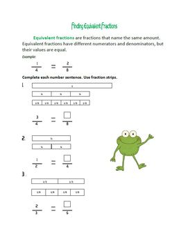 Fractions : Froggy Fun With Fractions