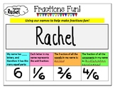 Fractions Fun! 'Using our names to make fractions fun' act