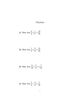 Fractions (GCSE-style Questions) no 2