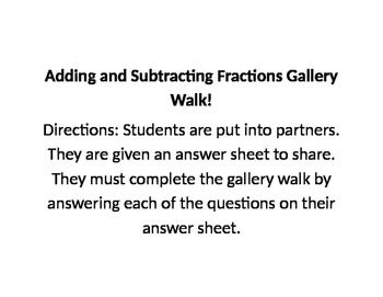 Fractions Gallery Walk