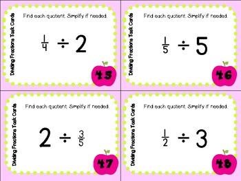 Fractions Galor Task Cards