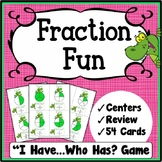 Fractions Game, I Have Who Has