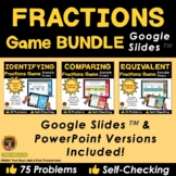 Fractions Game Bundle for Google Slides - Distance Learning