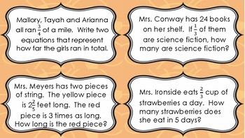 Fractions Game- Common Core