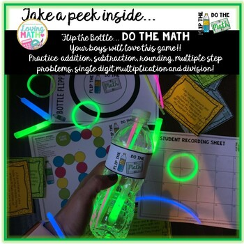 GLOW DAY Math Activity - Word Problems ADDITION SUBTRACTION MULTIPLE STEP