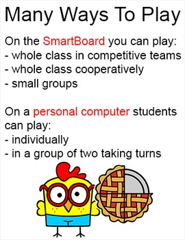 Fractions Game - Farm Animals Theme for Smartboards and All Whiteboards