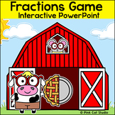 Fractions Game - Farm Animals Theme Math Game for Smartboards & All Whiteboards