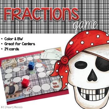 Fractions Game (File Folder)