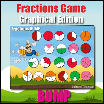 Fractions Game - Graphical Edition - Halves, Thirds, Quart