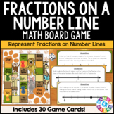 3rd Grade Fractions on a Number Line Task Cards Game {3.NF.2, 3.NF.2A, 3.NF.2B}