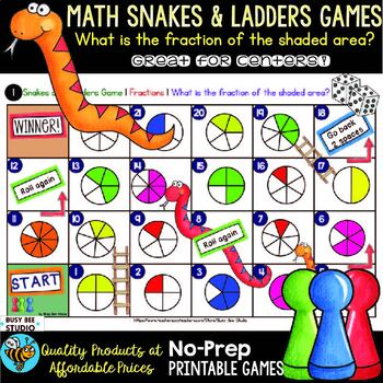 Fractions Game: Snakes and Ladders