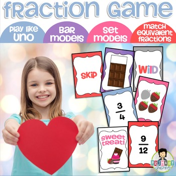 Fractions Game Uno-Inspired Valentine