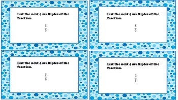 Fractions Game or Task Cards