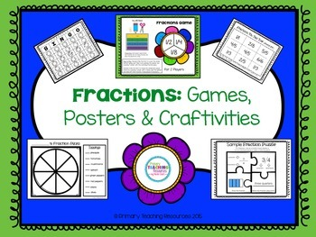 Basic Fractions: Games, Posters, and Crafts