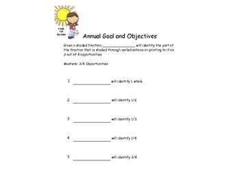 Fractions Goals and Activities