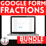 Fractions Google Forms Bundle Distance Learning 3rd Grade