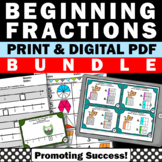 Fraction Activities 3rd Grade Common Core Math Review Test Prep BUNDLE