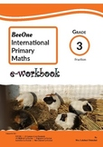 Grade 3 Fractions Workbook of 41 pages from BeeOne Books