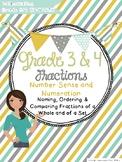 Fractions: Grade 3 and Grade 4 Ontario (Robot Themed)