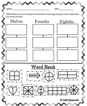 Fractions (Graphic Organizers and Practice Worksheets)