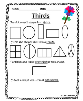Fractions (Graphic Organizers and bonus worksheets)