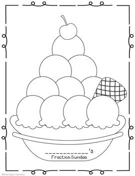 Fractions And Graphing Ice Cream Sundae Fun By