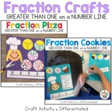Fractions Greater Than One Craft: Pizza and Cookies