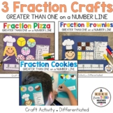 Fractions Greater Than One Craft Bundle: Pizza, Cookies, and Brownies