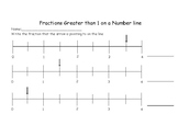 Fractions Greater than 1- number lines