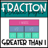 Fractions Greater than One: Expressing whole numbers as fractions