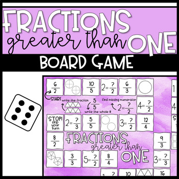 Fractions Greater than One Board Game
