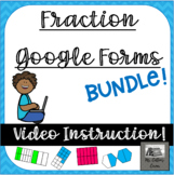 Fractions Growing Bundle - Google Forms with videos - Dist