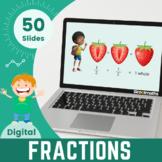 Fractions -Half & Quarters- Kindergarten
