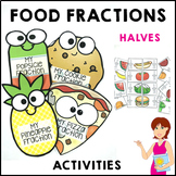 Fractions Halves Food Activities Distance Learning