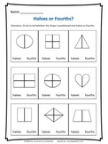 Fractions - Halves and Fourths