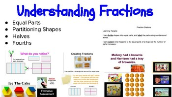 Fractions: Halves and Fourths