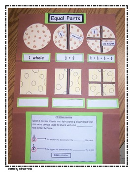 Fractions Halves and Fourths