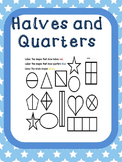 Fractions - Halves and Quarters
