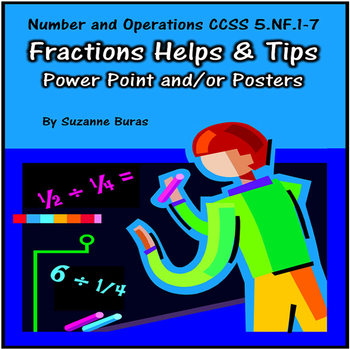 Fractions Helps and Tips PowerPoint/Posters: 5.NF.1-7