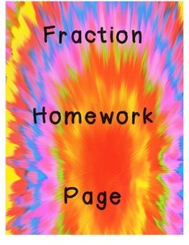 Fractions Homework-FREE